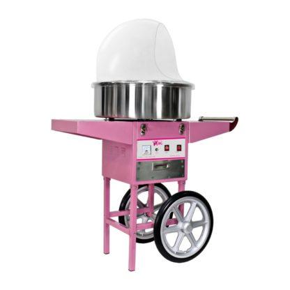 Stroj na cukrovú vatu - 52 cm - vrátane vozíka - s ochranným krytom 1