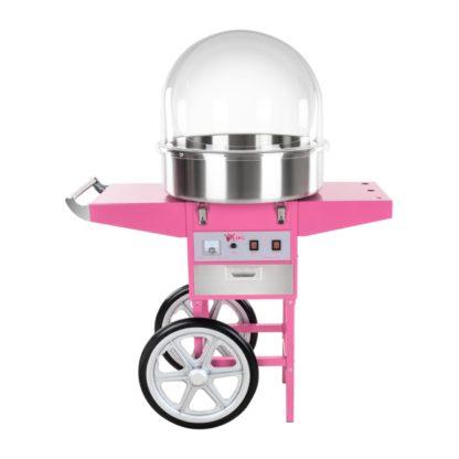 Stroj na cukrovú vatu - 52 cm - vrátane vozíka - s ochranným krytom 6