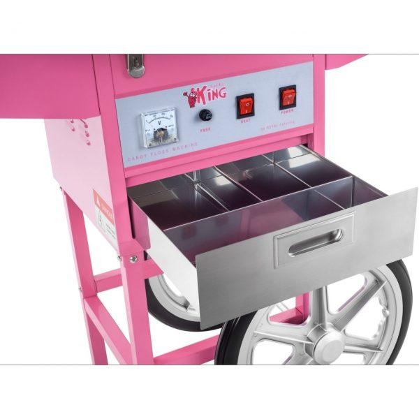Stroj na cukrovú vatu - 52 cm - vrátane vozíka - s ochranným krytom 7