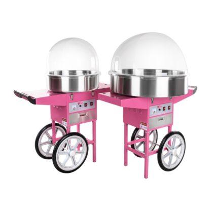 Stroj na cukrovú vatu - 52 cm - vrátane vozíka - s ochranným krytom 9