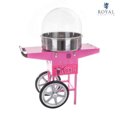 Stroj na cukrovú vatu - 52 cm - vrátane vozíka - s ochranným krytom 10