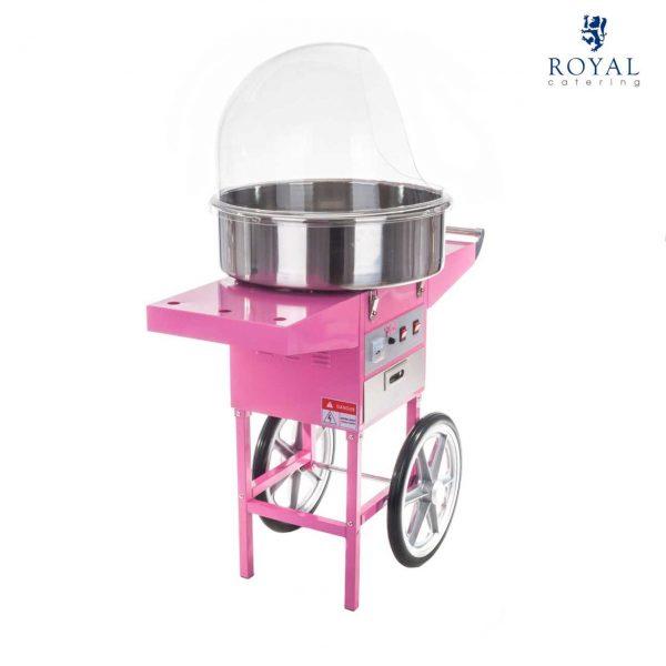 Stroj na cukrovú vatu - 52 cm - vrátane vozíka - s ochranným krytom 12
