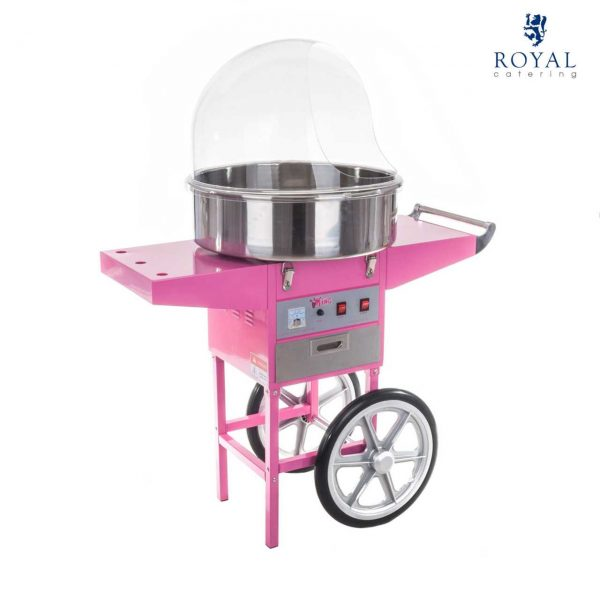 Stroj na cukrovú vatu - 52 cm - vrátane vozíka - s ochranným krytom 13