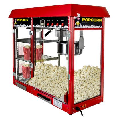 Stroj na popcorn s vyhrievanou vitrínou 1700W 1