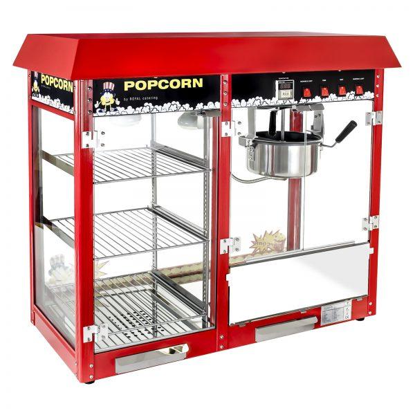 Stroj na popcorn s vyhrievanou vitrínou 1700W 2