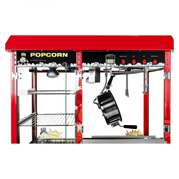 Stroj na popcorn s vyhrievanou vitrínou 1700W 3