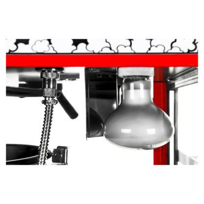 Stroj na popcorn s vyhrievanou vitrínou 1700W 7