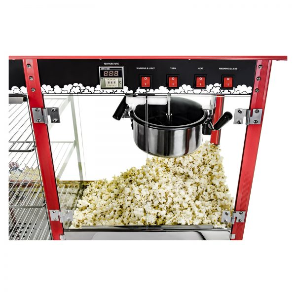 Stroj na popcorn s vyhrievanou vitrínou 1700W 8