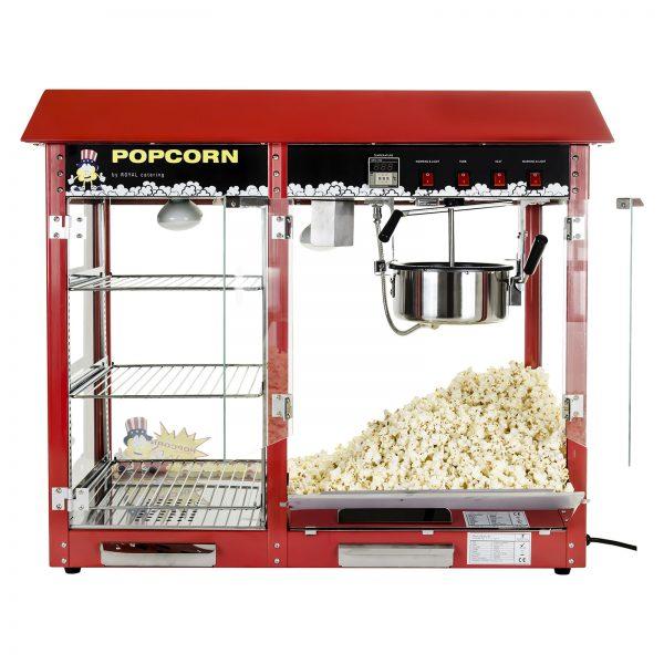 Stroj na popcorn s vyhrievanou vitrínou 1700W | RCPC-16E