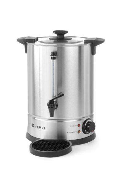 Profesionálny ohrievač horúcich nápojov značky HENDI s kapacitou 10 l - jednostenný. Vhodný k ohrevu vody, čaju, vína, grogu s nastavením teploty.