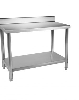 Nerezové stoly so zadným lemom