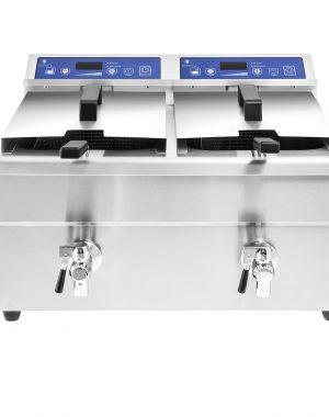 Indukčná fritéza 2x10L, 60-90 (1343) - spredu