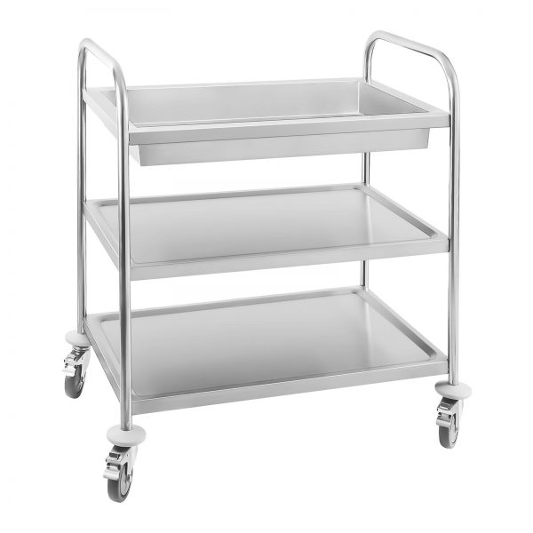 Servírovací vozík - 2 odkladacie plochy + 1 vanička (1354) - 1