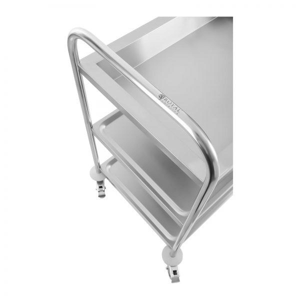 Servírovací vozík - 2 odkladacie plochy + 1 vanička (1354) - 3