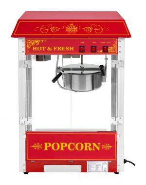 Stroj na popcorn - RETRO dizajn (červený) - RCPS-16.3 - spredu