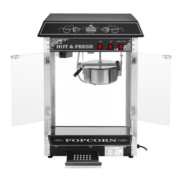 Stroj na popcorn - RETRO dizajn - 1600W - (čierny) - 2