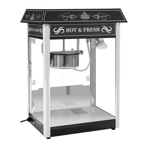 Stroj na popcorn - RETRO dizajn - 1600W - (čierny) - 3