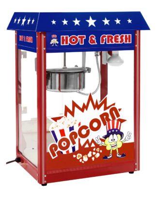 Stroj na popcorn - americký dizajn - 1600W (červený) - 1