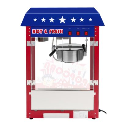 Stroj na popcorn - americký dizajn - 1600W (červený) - 5