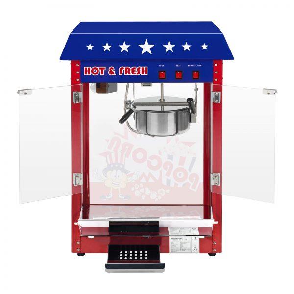 Stroj na popcorn vrátane vozíka - americký dizajn (červený) - RCPW-16.1 - 2