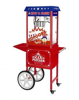 Stroj na popcorn vrátane vozíka - americký dizajn (červený) - RCPW-16.1 - 11