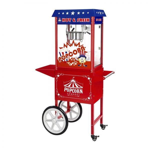 Stroj na popcorn s vozíkom - 1600W - americký dizajn | RCPW-16.1