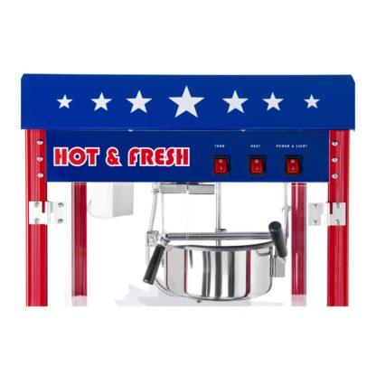 Stroj na popcorn vrátane vozíka - americký dizajn (červený) - RCPW-16.1 - 5