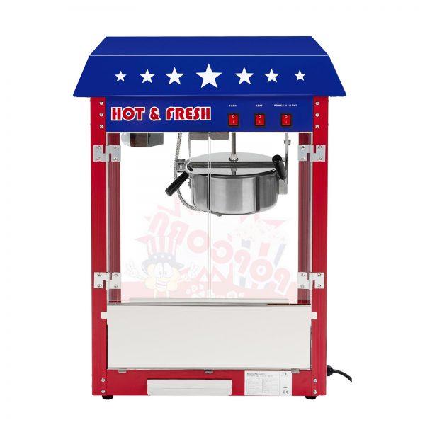 Stroj na popcorn vrátane vozíka - americký dizajn (červený) - RCPW-16.1 - 1 RCPW-16.1 - zatvorený