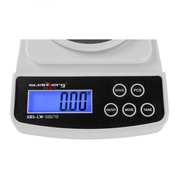 Digitálne presné váhy - 500 g 0,01 g - Basic - SBS-LW-500 10 (3142) 3