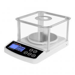 Digitálne presné váhy - 500 g0,01 g - Basic - ochrana pred vetrom - SBS-LW-50010 WS (3140) 1
