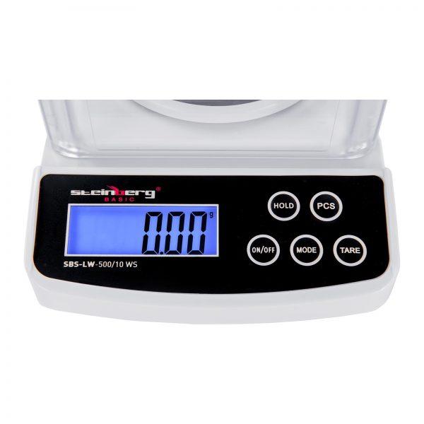 Digitálne presné váhy - 500 g0,01 g - Basic - ochrana pred vetrom - SBS-LW-50010 WS (3140) 3