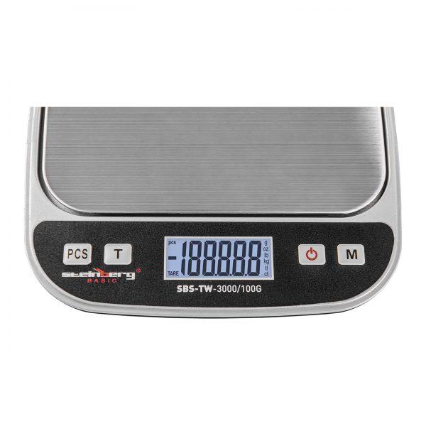 Digitálne stolné váhy - 3 kg0,1 g - SBS-TW-3000100G (3144) 3