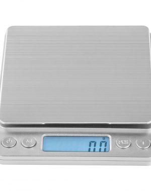 Digitálne stolné váhy - 500 g0,01 g - 10 x 10 cm - SBS-TW-50010 (3143) 1 kapacita váženia: 500 g/presnosť: 0,01 g plocha na váženie: 10 x 10 cm materiál: ušľachtilá oceľ, plast vážiace jednotky: g, gn, oz, ozt, dwt, ct, tl LCD displej s podsvietením