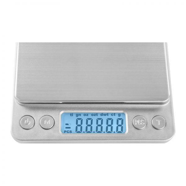 Digitálne stolné váhy - 500 g0,01 g - 10 x 10 cm - SBS-TW-50010 (3143) 3