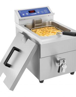 Indukčná fritéza 1x10L, 60 – 190 °C 1