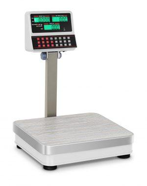 Obchodné váhy - 100 kg/10 g - biele - LCD (3111)