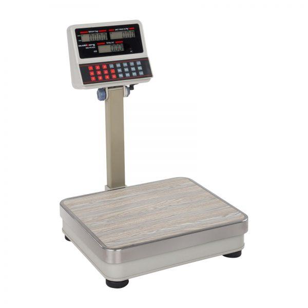 Obchodné váhy - 100 kg10 g - biele - LCD (3111) 1
