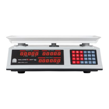 Obchodné váhy - 30 kg1 g - biele - LED (3119) 2