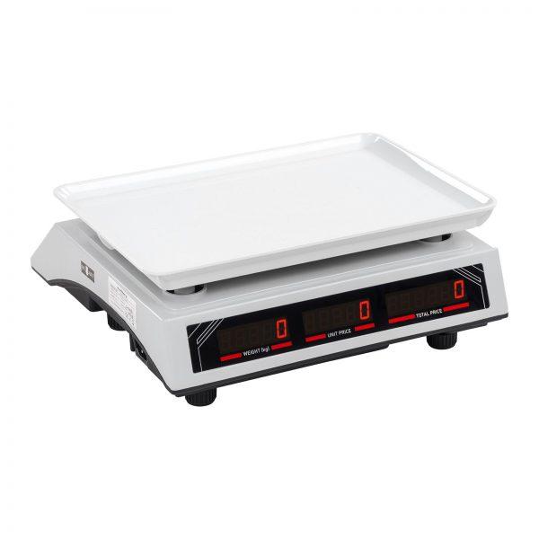 Obchodné váhy - 30 kg1 g - biele - LED (3119) 3