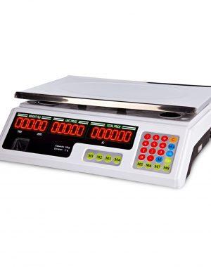 Obchodné váhy - 40 kg 2 g - biele - LED (3067) 1