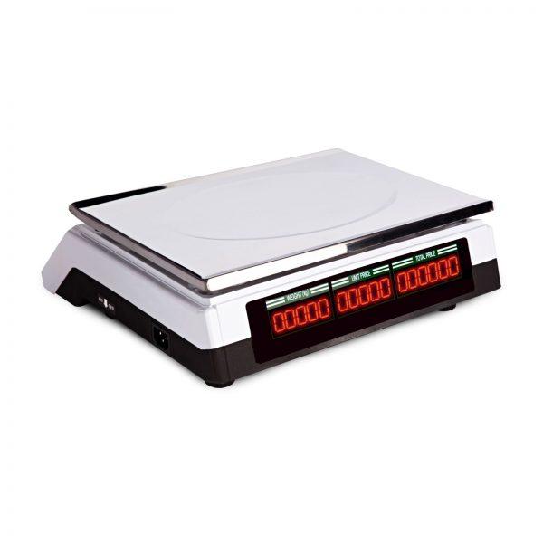Obchodné váhy - 40 kg 2 g - biele - LED (3067) 2