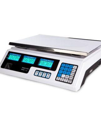 Obchodné váhy - 40 kg2 g - biele - LCD (3066) 1