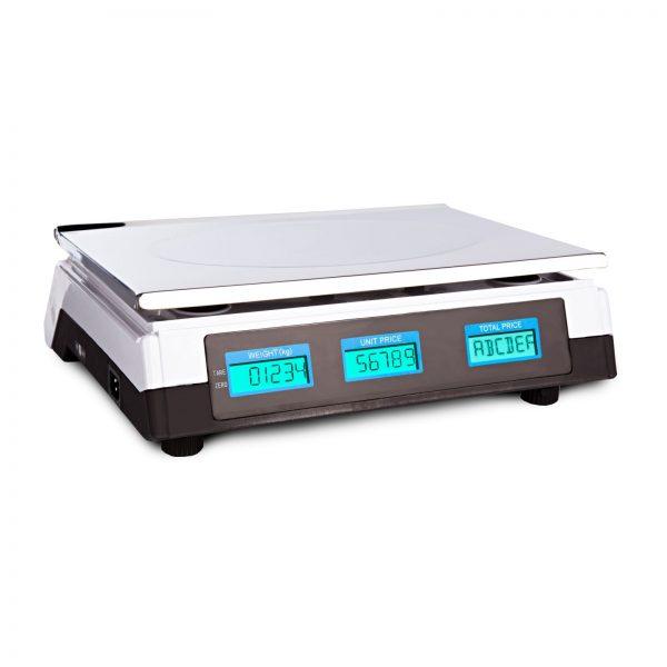 Obchodné váhy - 40 kg2 g - biele - LCD (3066) 2