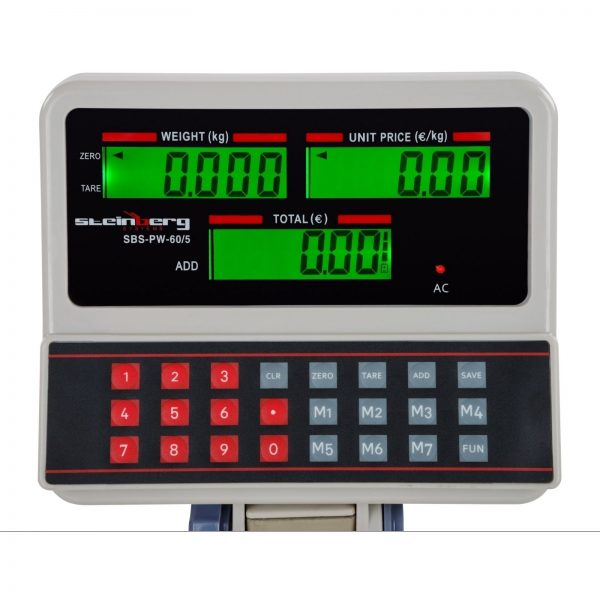 Obchodné váhy - 60 kg5 g - biele - LCD (3110) 3