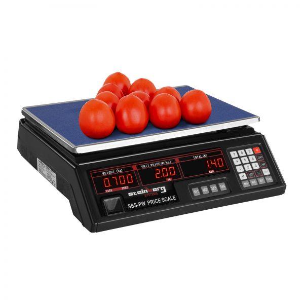 Obchodné váhy - 30 kg 2 g - čierne | SBS-PW-302B-4