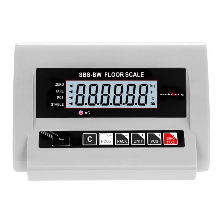 Podlahové váhy - 1000 kg 0,5 kg - LCD - SBS-BW-1T (3085) 3