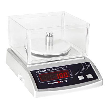 Presné váhy - 2000 g0,01 g - SBS-LW-2000 (3023) 1 2000 g/0,01 g priemer plochy na váženie: 13 cm rozmer váh: 19 x 23 x 7 cm vrátane plastového krytu LED displej