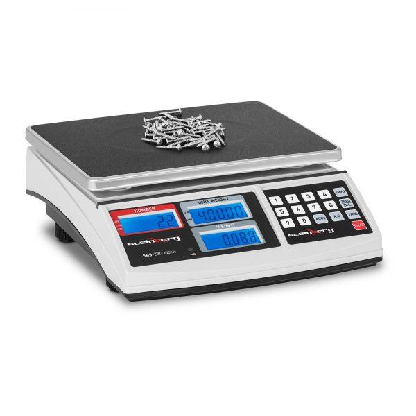 Počítacie váhy - 30 kg/1 g - SBS-ZW-3001H