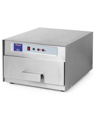 Strerilizátor vajec 30 ks - 1 teleso z nehrdzavejúcej ocele chrómová oceľová mriežka čas sterilizácie: 150 sekúnd automatické vypnutie svietidiel po otvorení zásuvky dezinfekciu zabezpečujú 4 lampy vyžarujúce UV žiarenie rozmery : 358x512x255 mm výkon: 0,078 kW napätie : 230 V
