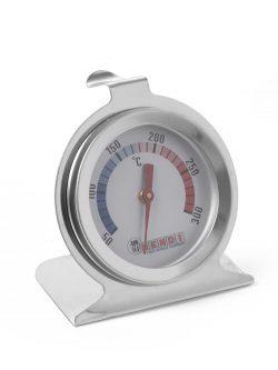 Teplomer pre pece a rúry +50°C / +300°C HENDI teplotný rozsah od 50°C do 300°C stupnica po 10° úchyt na zavesenie alebo stopka na položenie rozmery:Ø 60x70 mm nerez